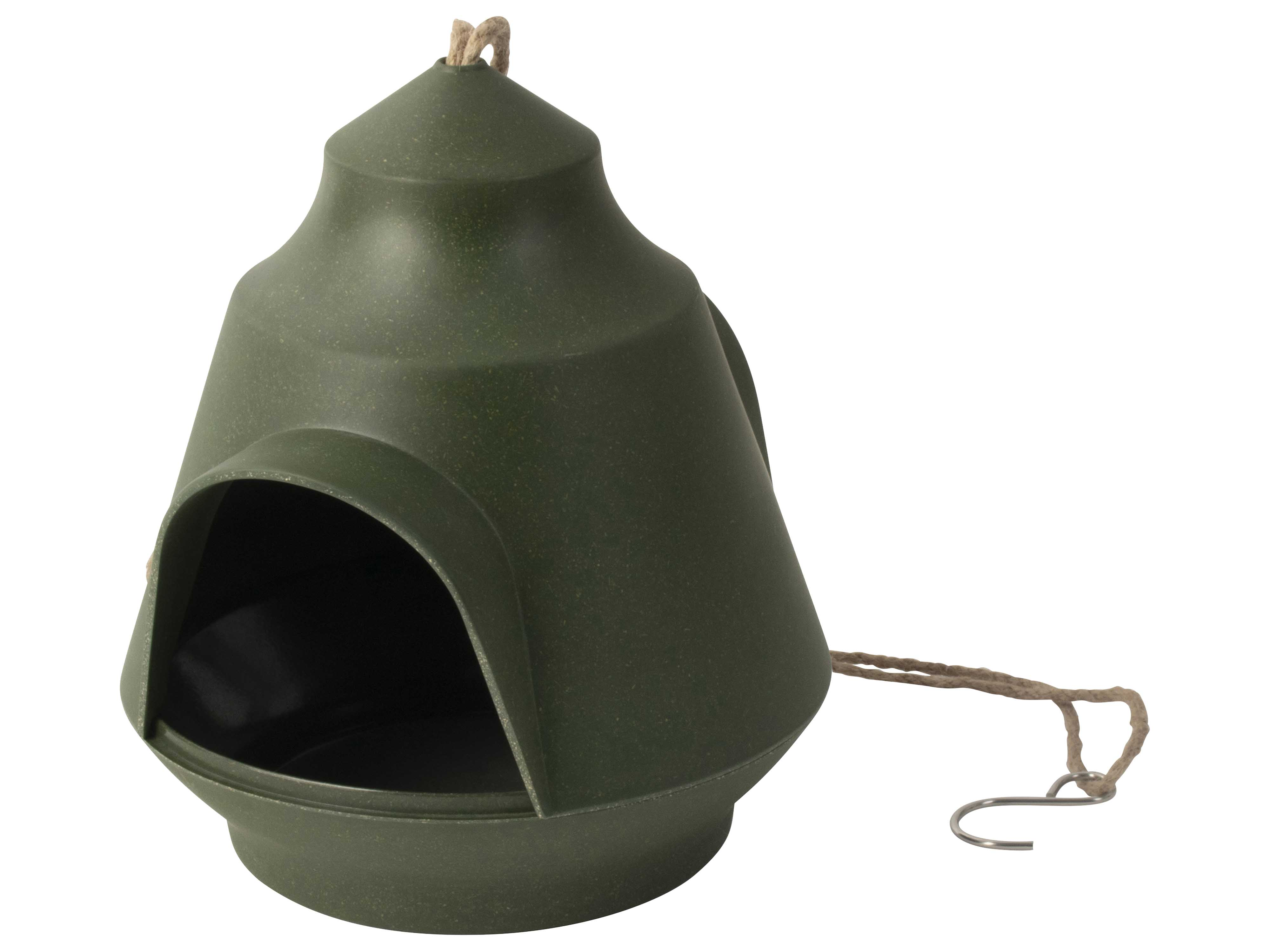 Bird Feeder House 18x15.5cm Green Gift