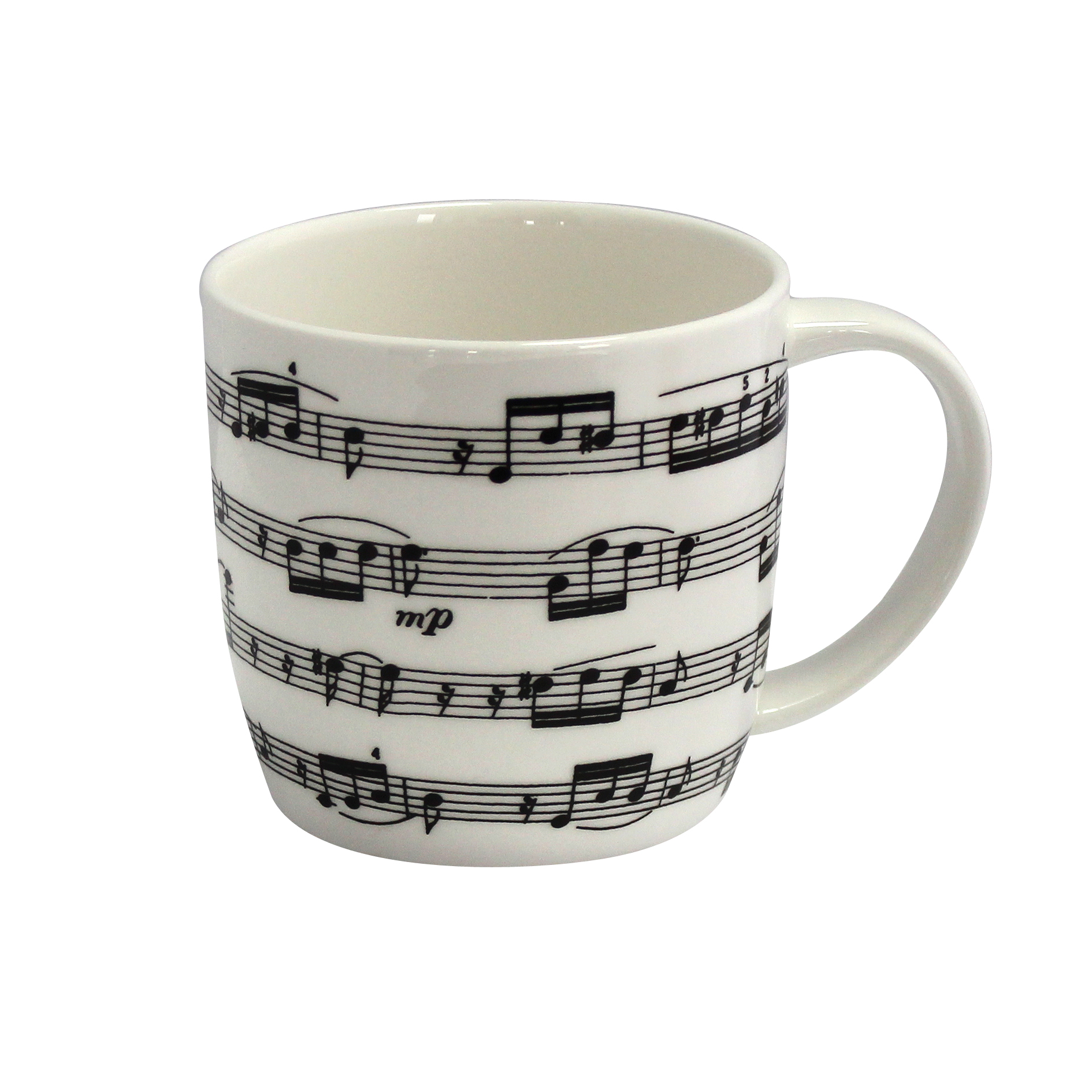 Bone China Boxed Mug Arpeggio White                          Music Gift