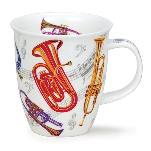 Dunoon Mug Nevis Tempo Brass                                 Music Gift