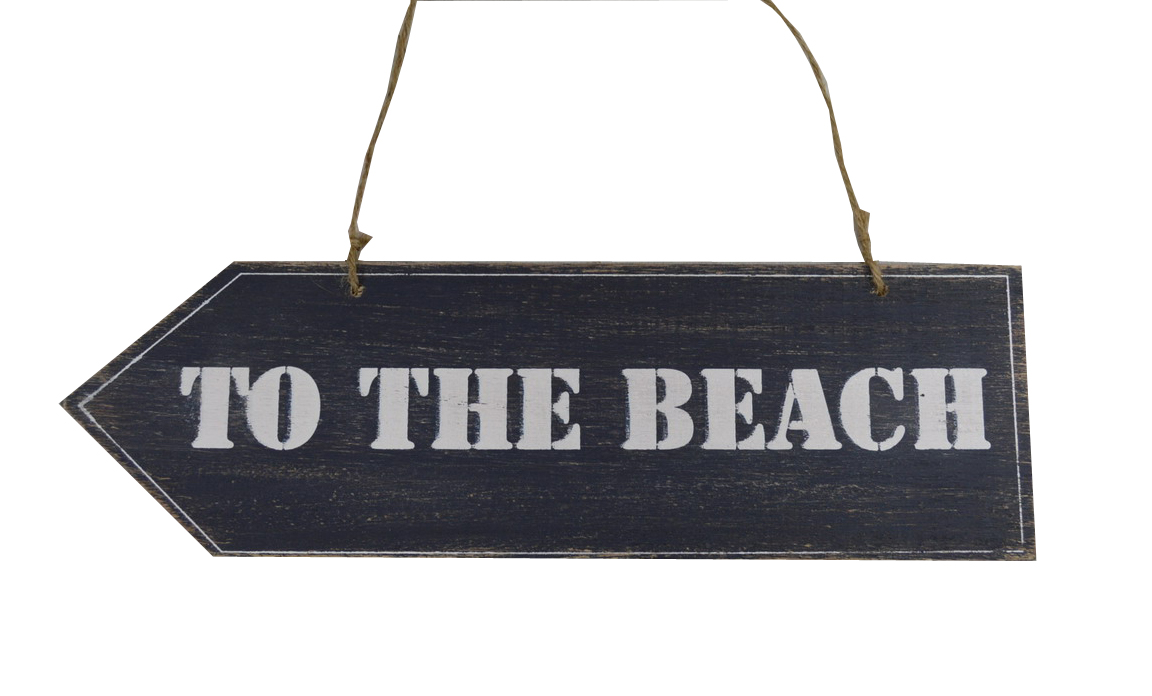 To The Beach Sign Navy Blue Ecp Design