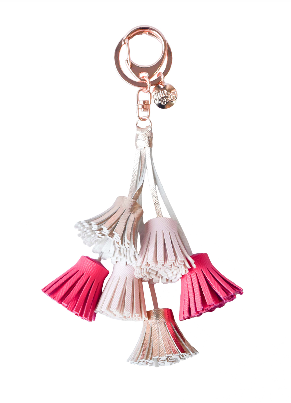 Calligraphy Multi Pink Tassels Keyring                       Gift