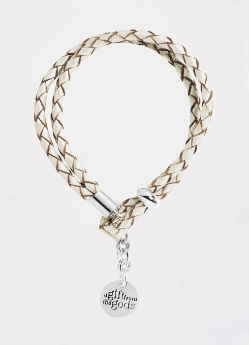 White Leather Rope Bracelet Gift