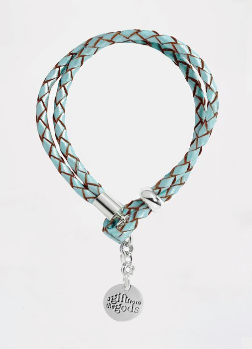 Blue Leather Rope Bracelet Gift