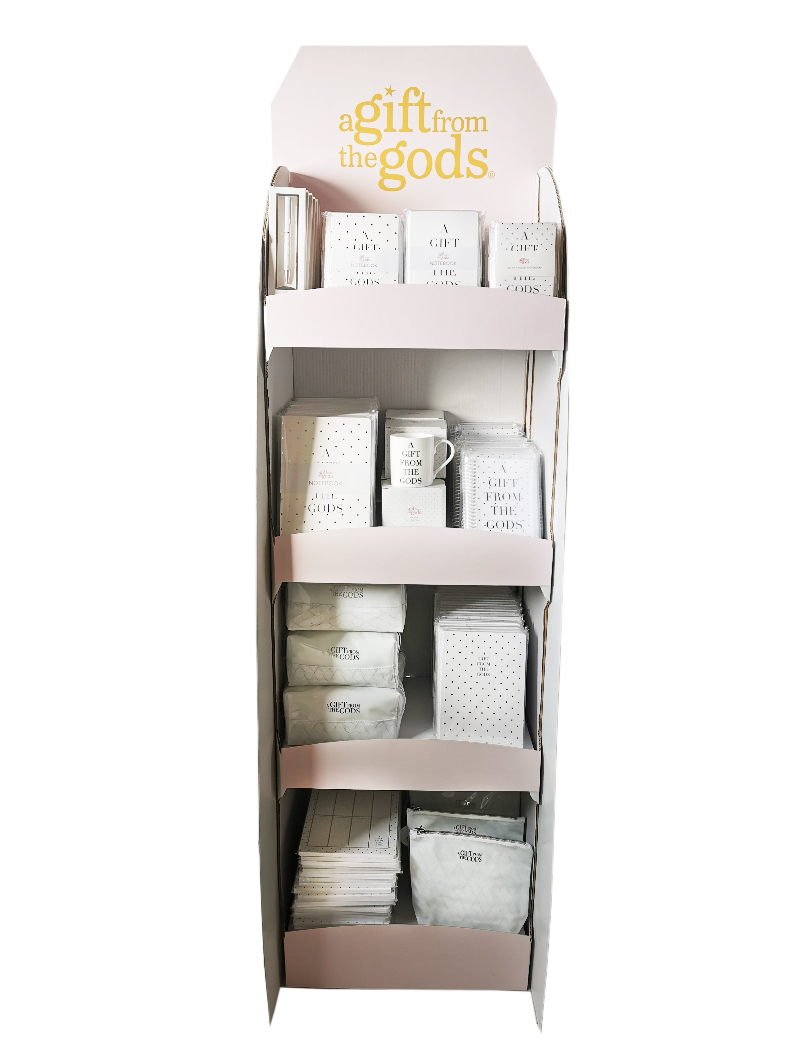 Agfg Stationery Floor Display White 250 Pieces Gift