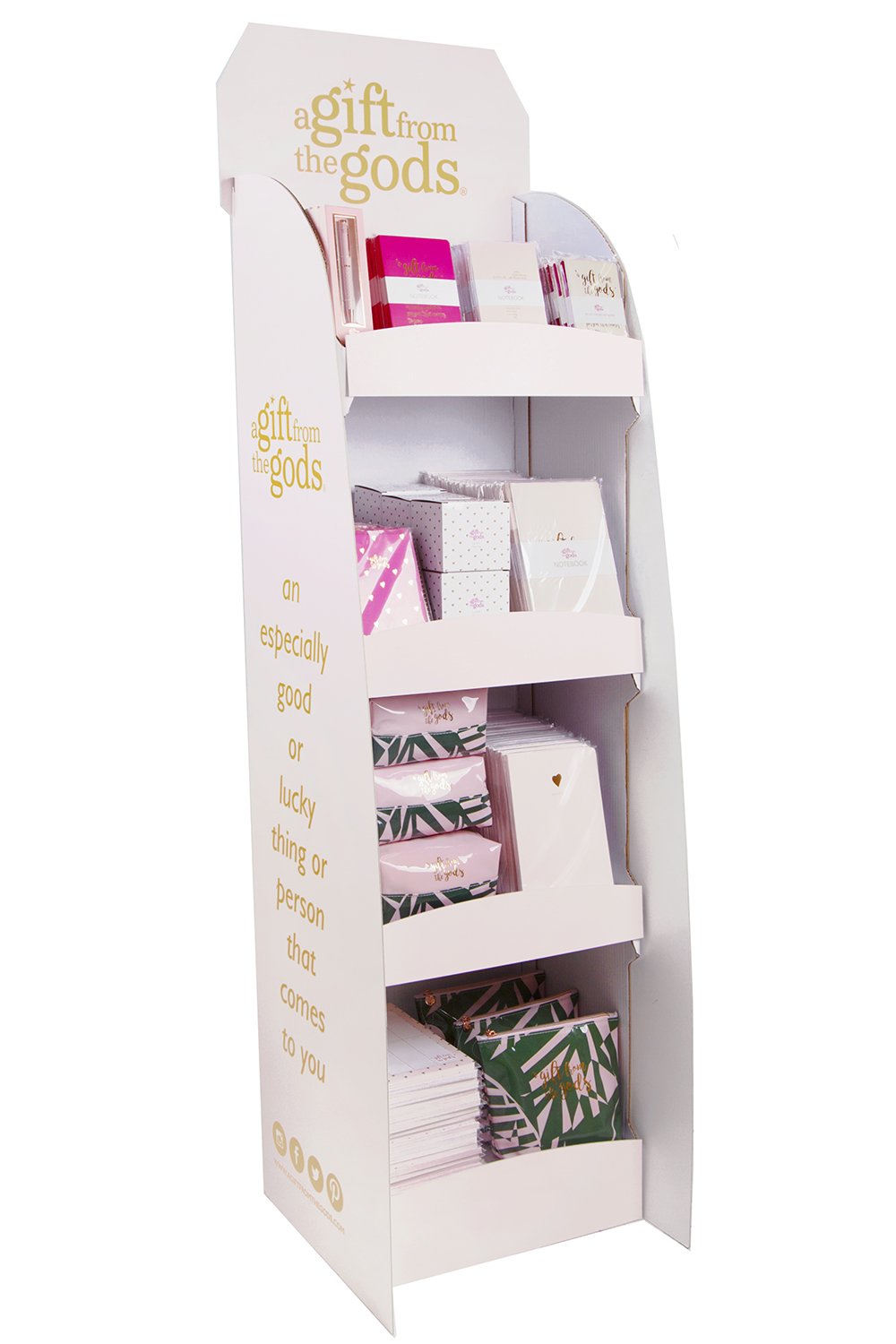 Agfg Stationery Floor Display Pink 250 Pieces Gift