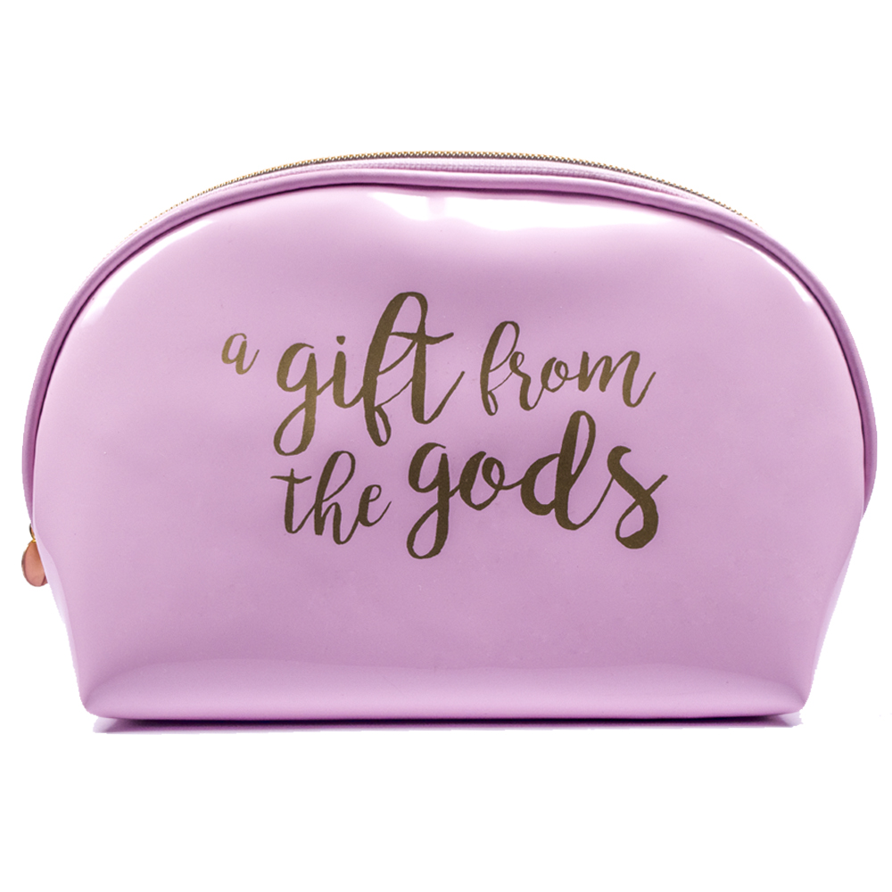 Calligraphy Slogan Pink Curve Cosmetic Bag Gift