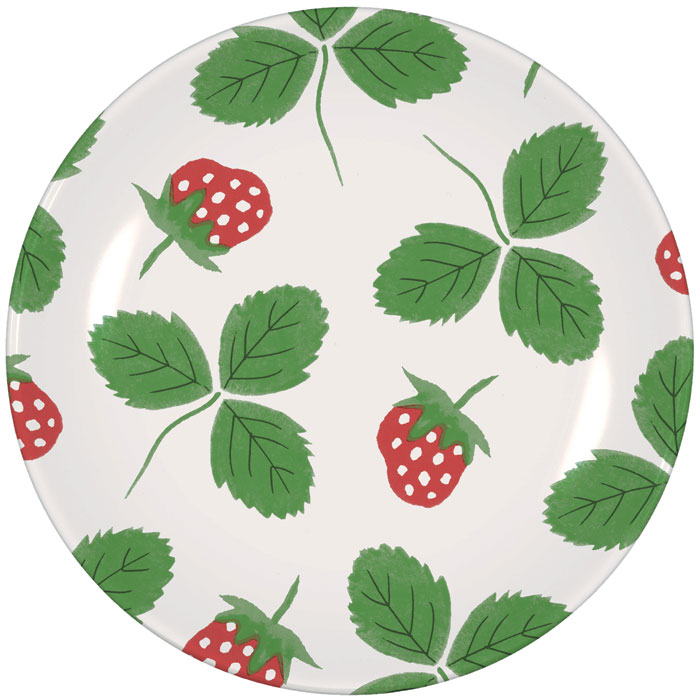 Strawberry Side Plate Hinchcliffe & Barber Pack 6            Music Gift