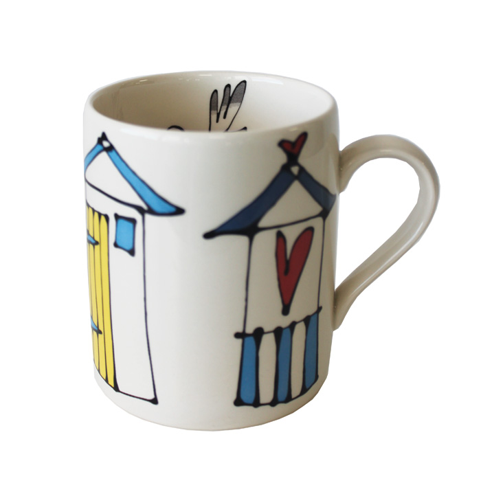 Gallery Thea Mug Beach Huts Pack 6                           Music Gift
