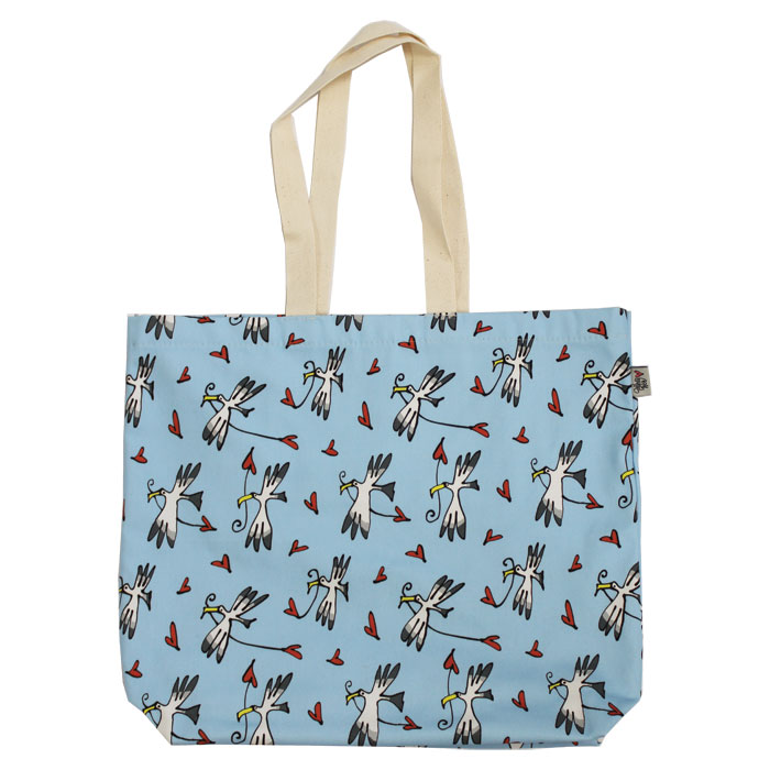 Gallery Thea Luxury Lined Shopper Gull & Heart Blu           Music Gift