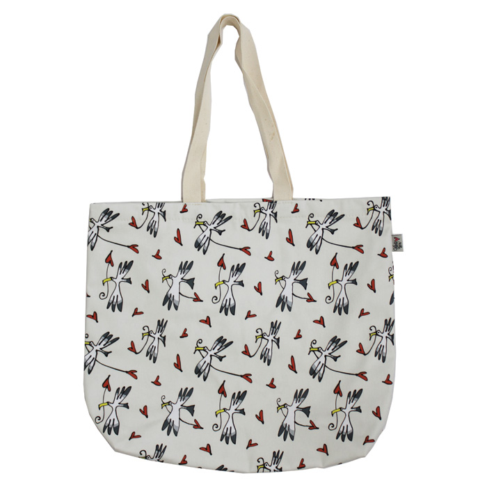 Gallery Thea Luxury Lined Shopper Gull & Heart Ivo           Music Gift
