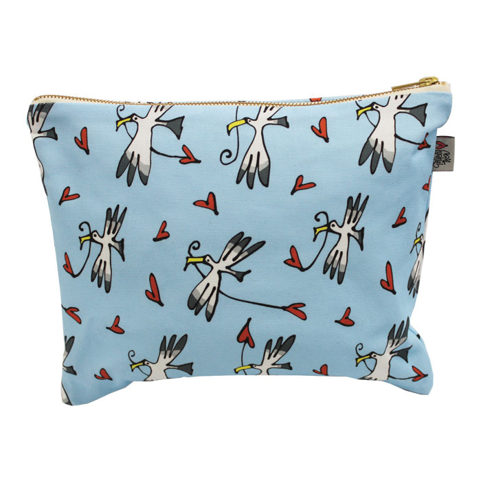 Gallery Thea Luxury Wash Bag Gull Heart Blue                 Music Gift