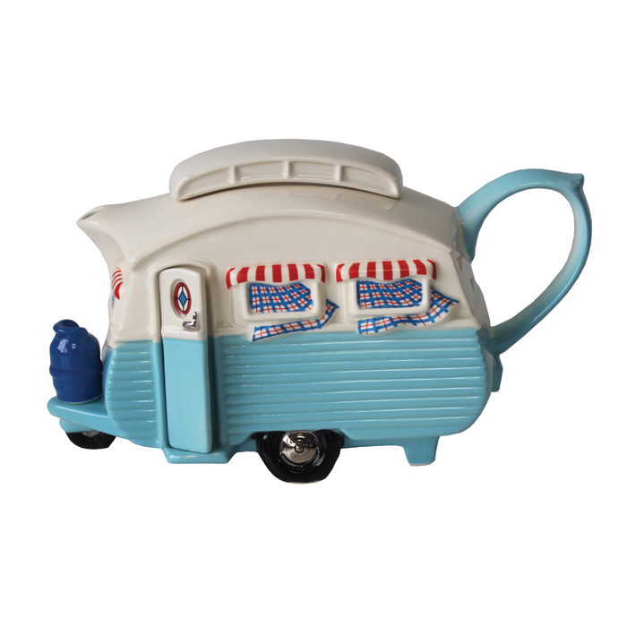 Teapot Touring Caravan Blue Limited Edition                  Music Gift