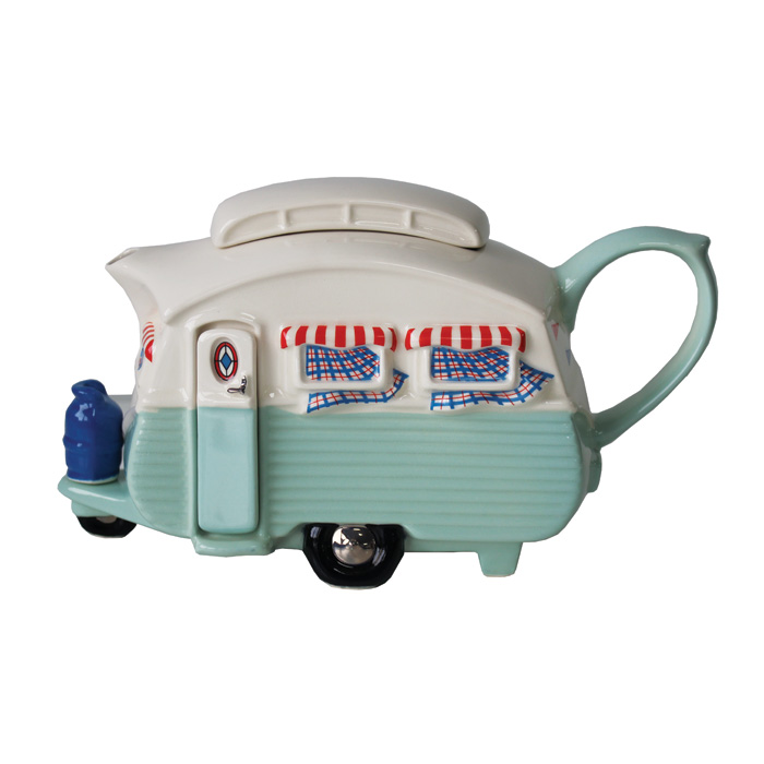 Teapot Touring Caravan Green Limited Edition                 Music Gift