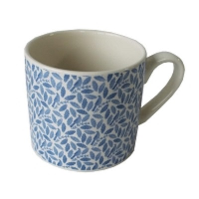 Songbird Blue Mug Repeat Pattern Single                      Music Gift