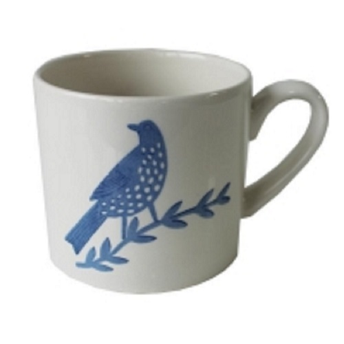Songbird Blue Mug Single Bird Single                         Music Gift