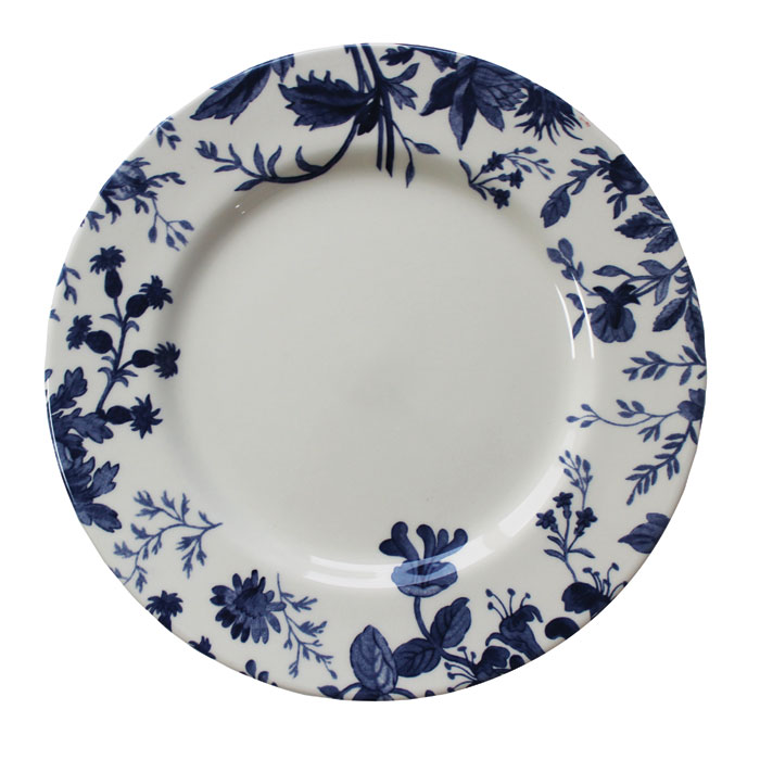 Royal Staff Floral Weave Dinner Plate Blue Bord. 6           Gift