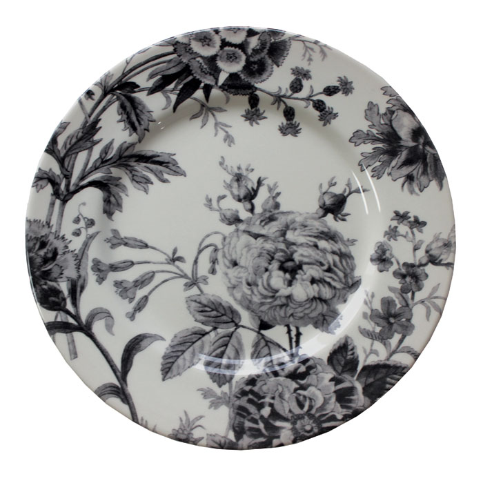Royal Stafford Floral Weave Dinner Plate Black 6pk           Music Gift