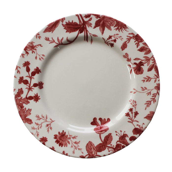 Royal Staff Floral Weave Dinner Plate Red Bord 6pk           Music Gift