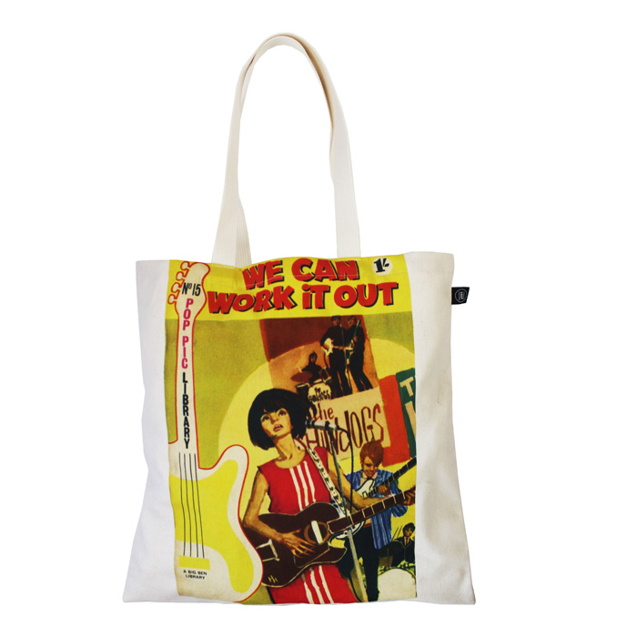 Land of Lost Content Shopper Bag We Can Work It Out                          Music Gift