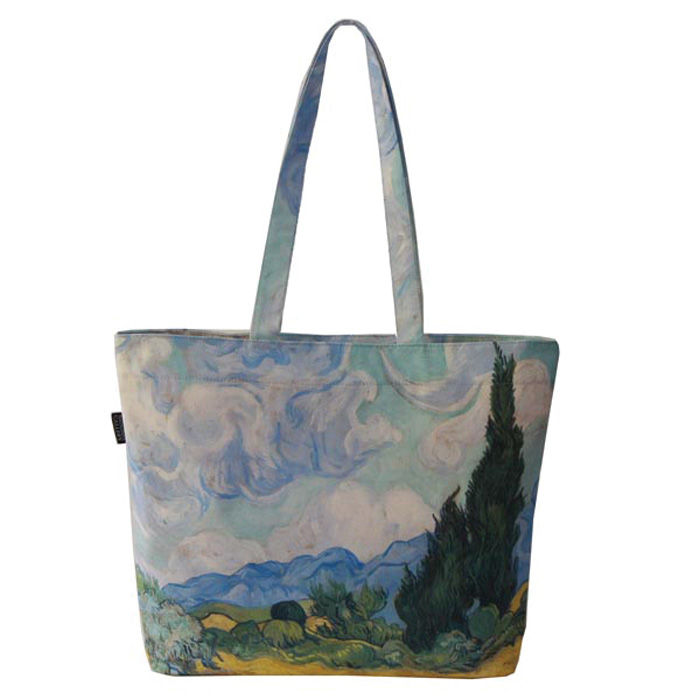 National Gallery Lined Tote V Gogh A Wheatfield X2           Music Gift