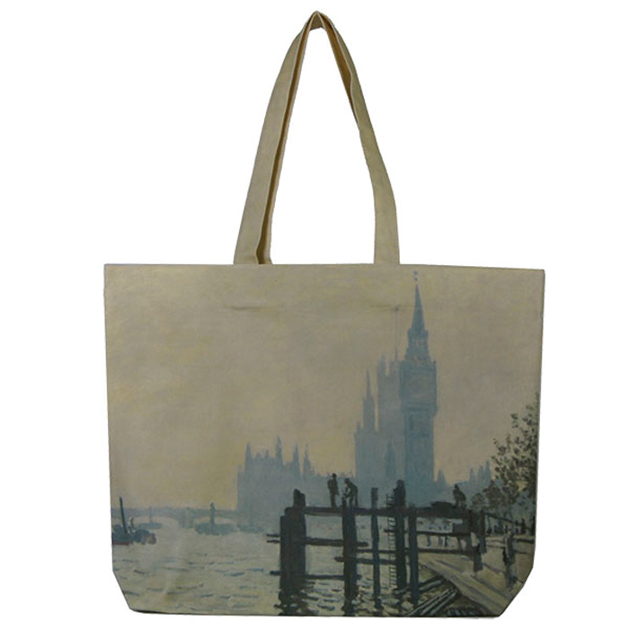 National Gallery Lined Tote Monet Thethames X2               Music Gift