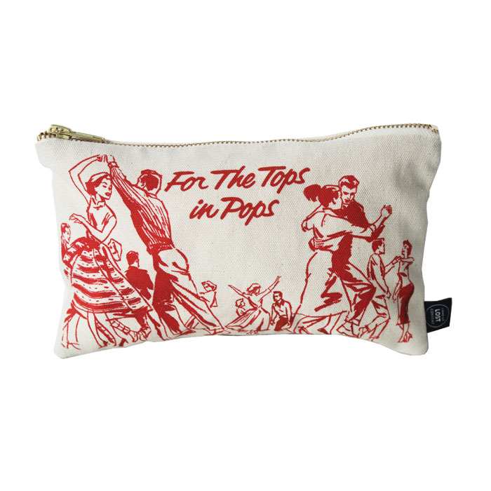 Land of Lost Content Pencil Case Tops In Pops Red                            Music Gift