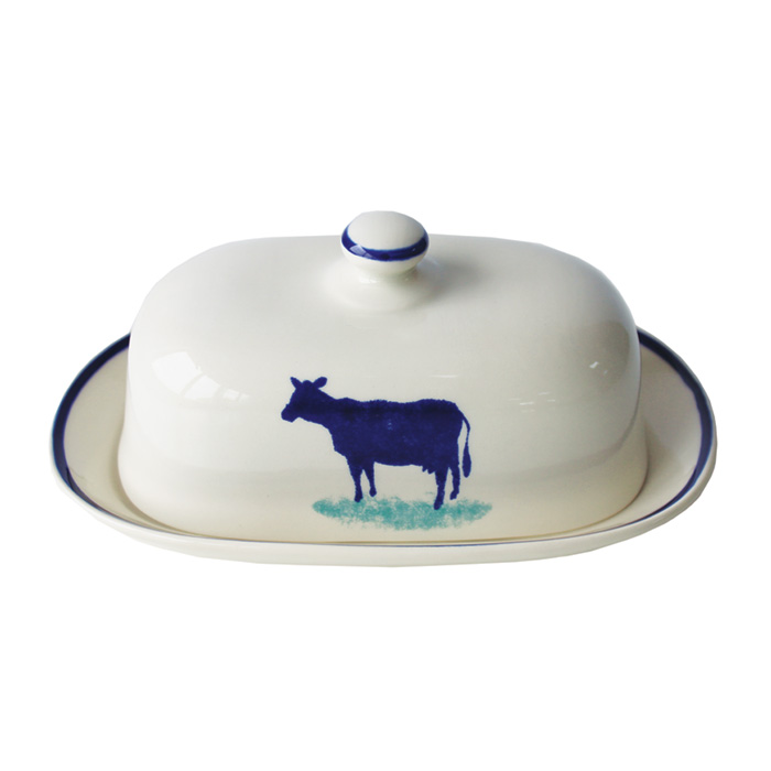 Dorset Delft Butter Dish Cow Pack 2                          Music Gift
