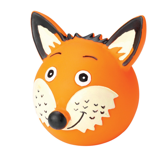 House Of Paws Woodland Vinyl Ball Fox                        Gift