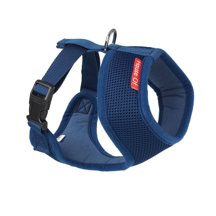 House Of Paws Memory Soft Harness Navy S                     Gift