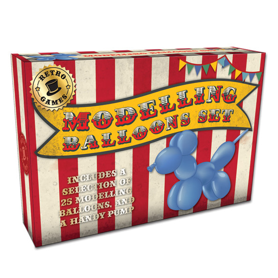 Vintage Red Modelling Balloons Set In A Box                  Music Gift