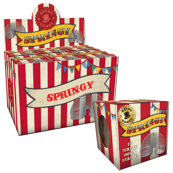 Vintage Red Springy In A Box                                 Music Gift