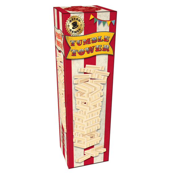 Vintage Red Tumble Tower In A Box                            Music Gift