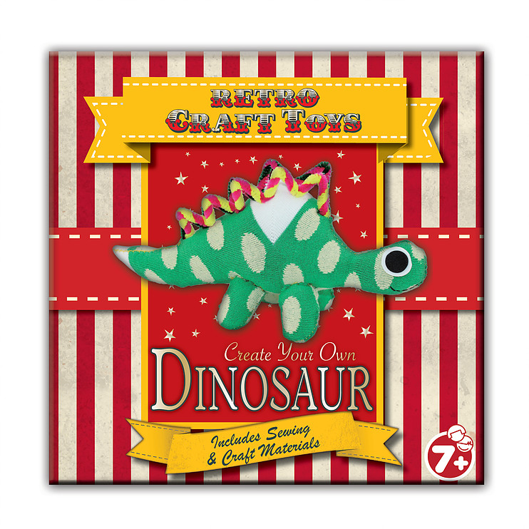 Vintage Red Create Your Own Dinosaur                         Music Gift