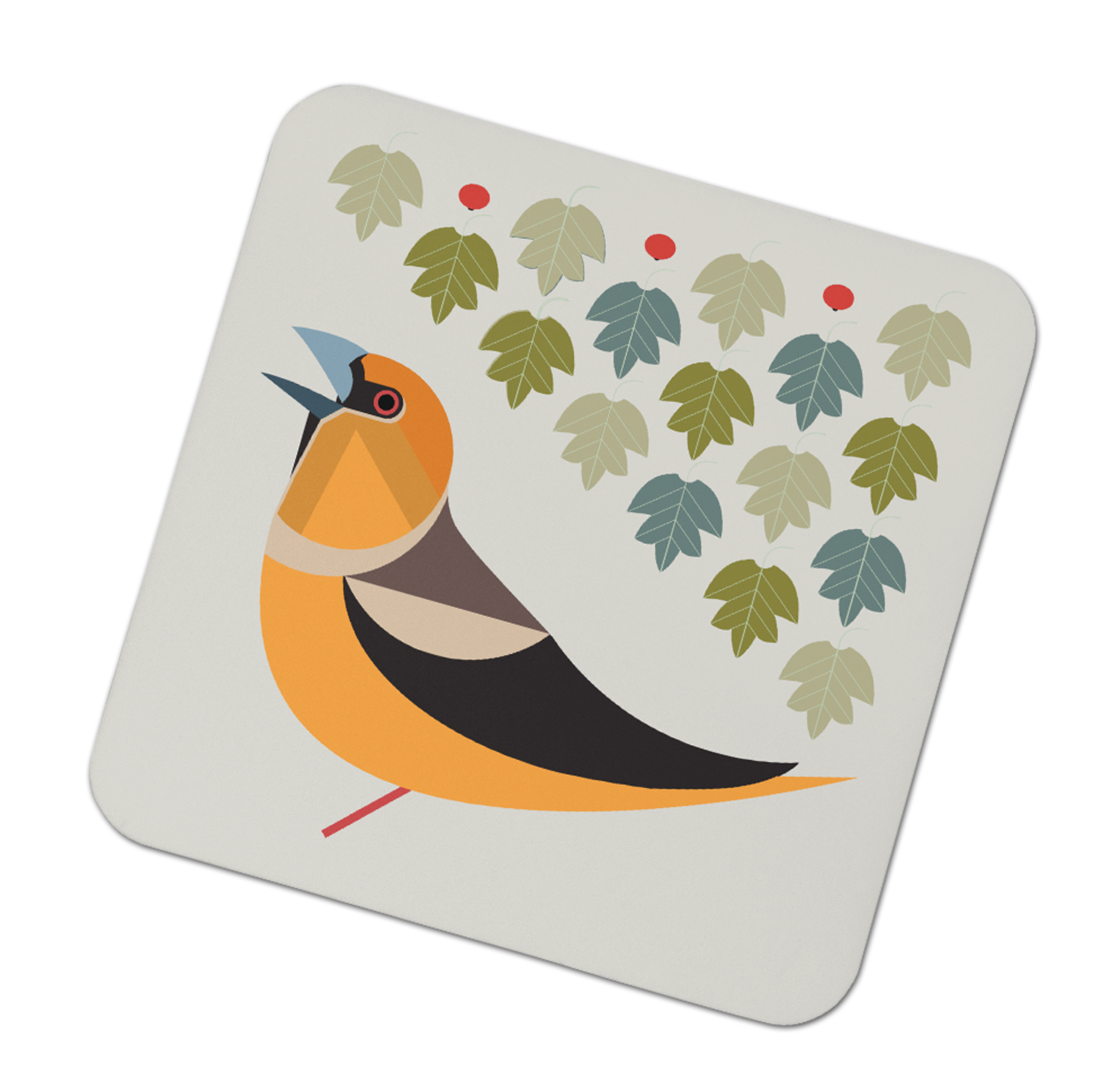 I Like Birds Coasters Hawfinch                               Music Gift