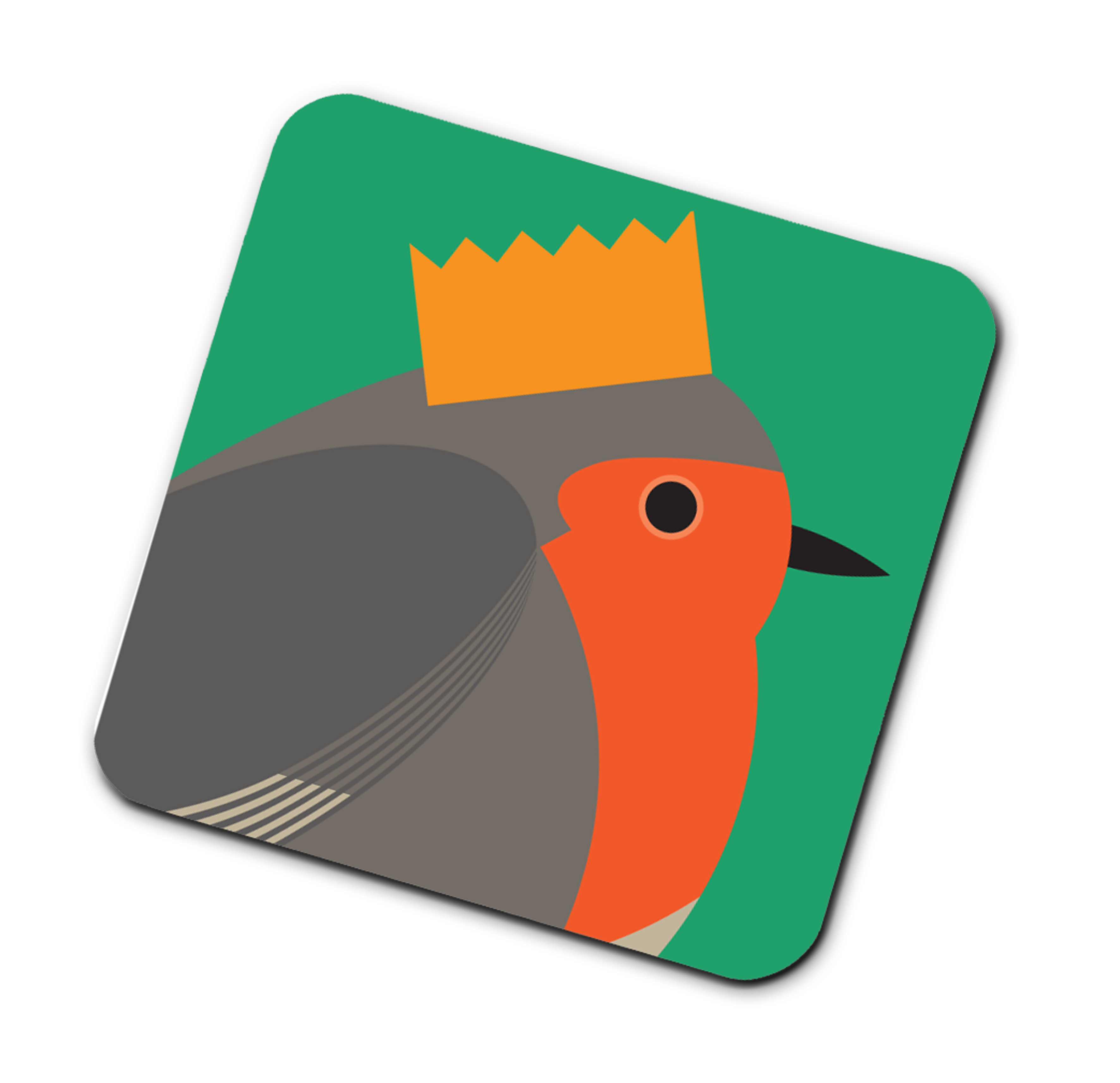 I Like Birds Coasters Bird In Hat Robin                      Music Gift