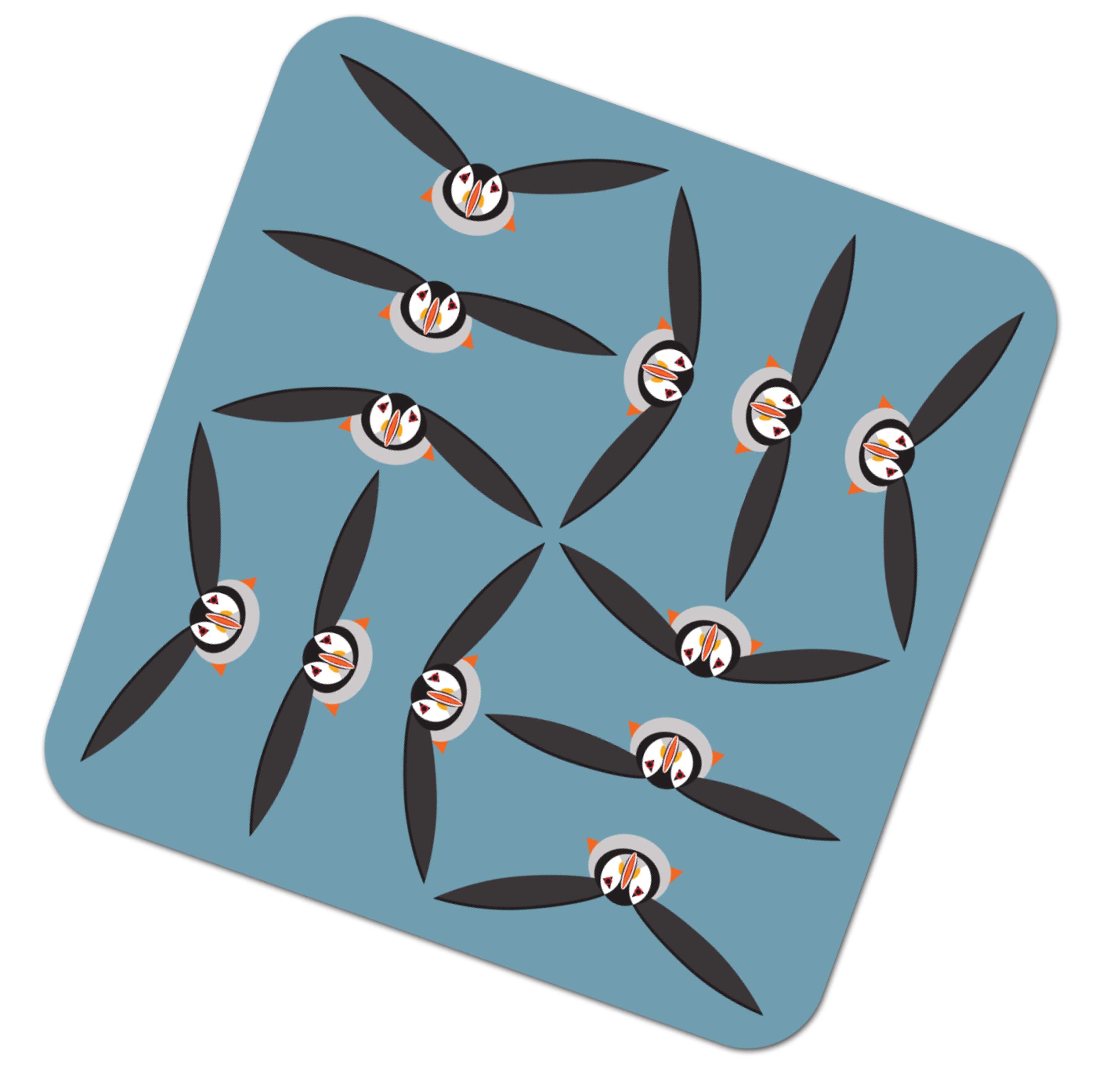 I Like Birds Placemat Puffin                                 Music Gift