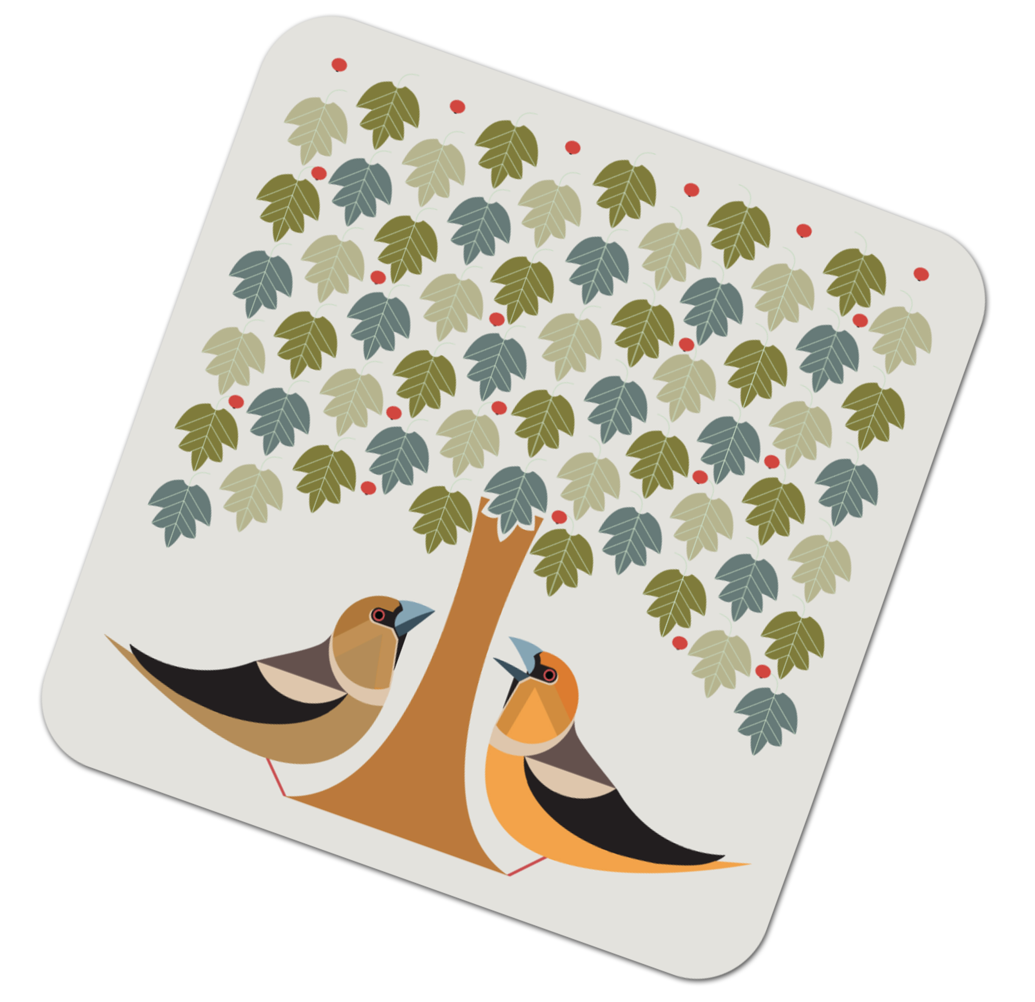 I Like Birds Placemat Hawfinch                               Music Gift