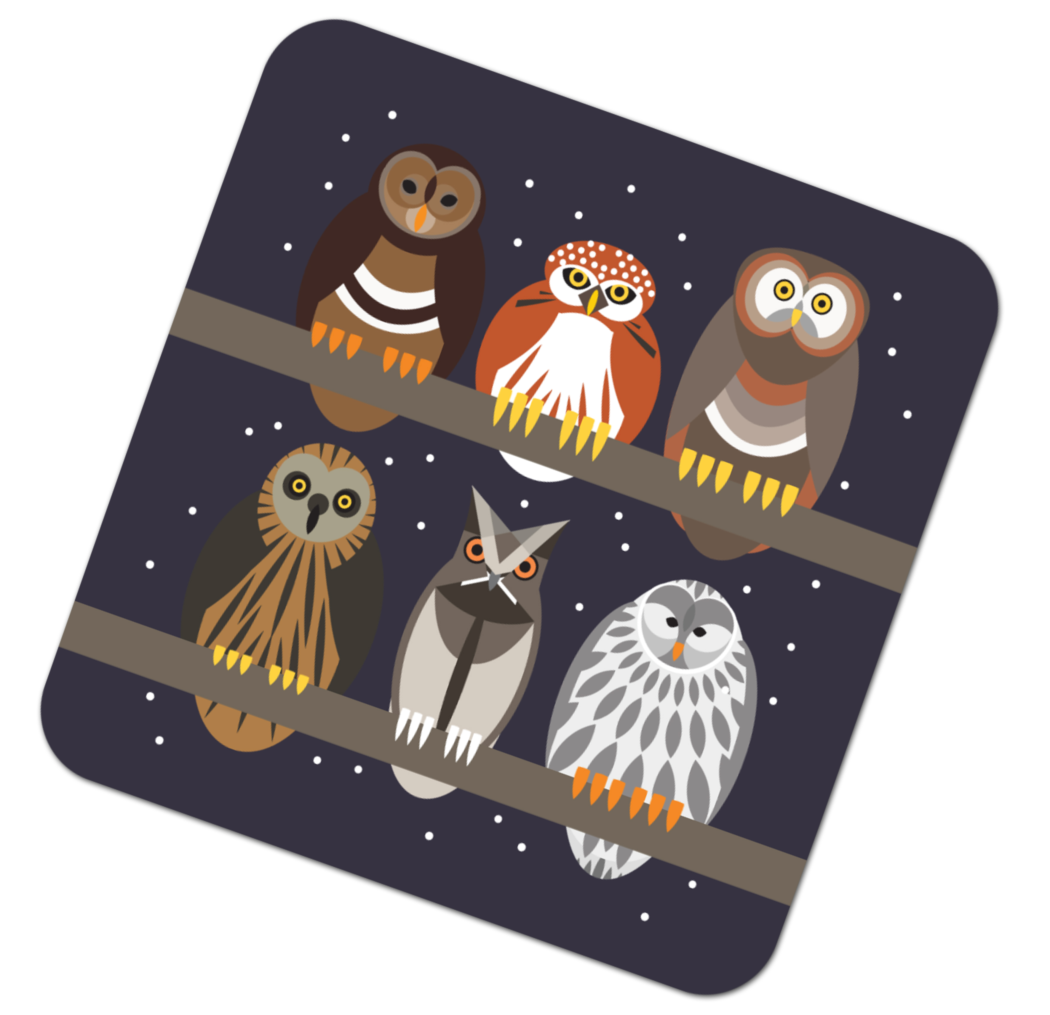 I Like Birds Placemat Owls                                   Music Gift