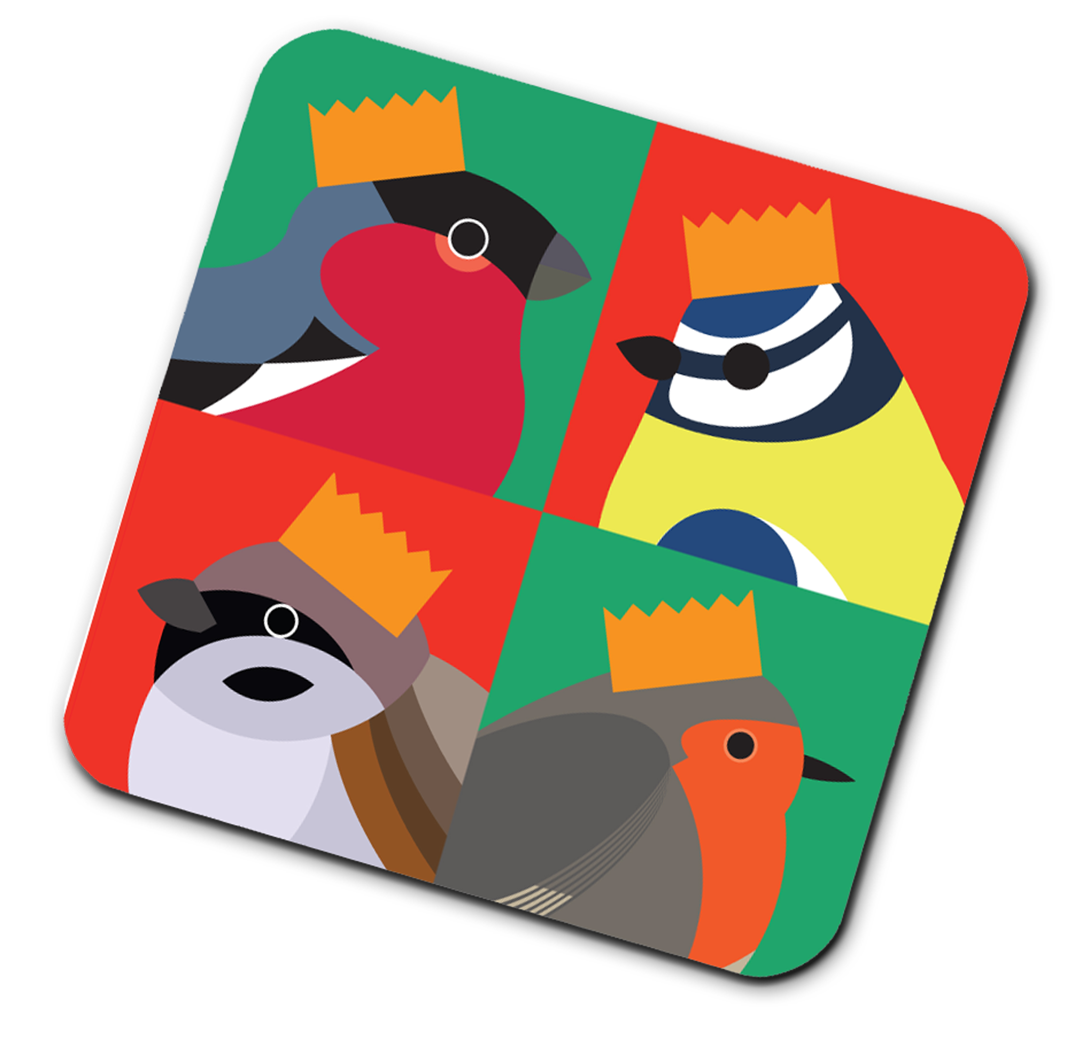 I Like Birds Placemat Bird In Hat                            Music Gift