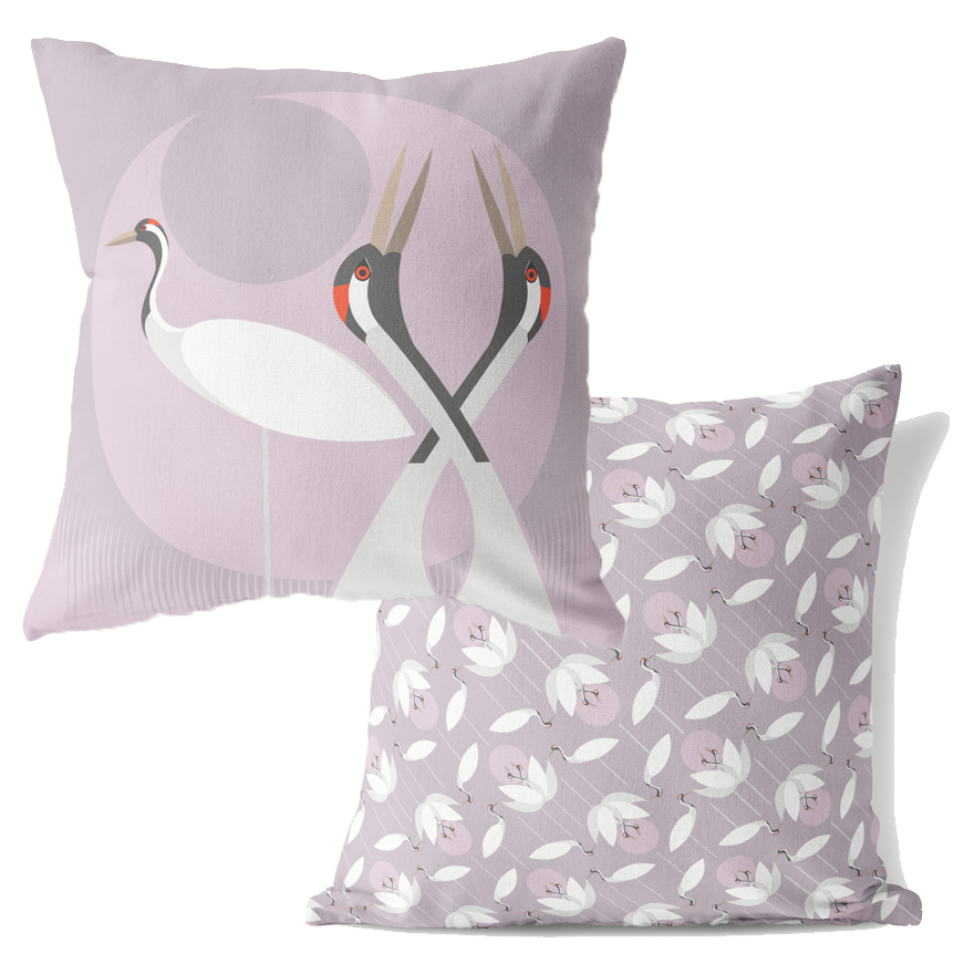 I Like Birds Cushion Crane                                   Music Gift