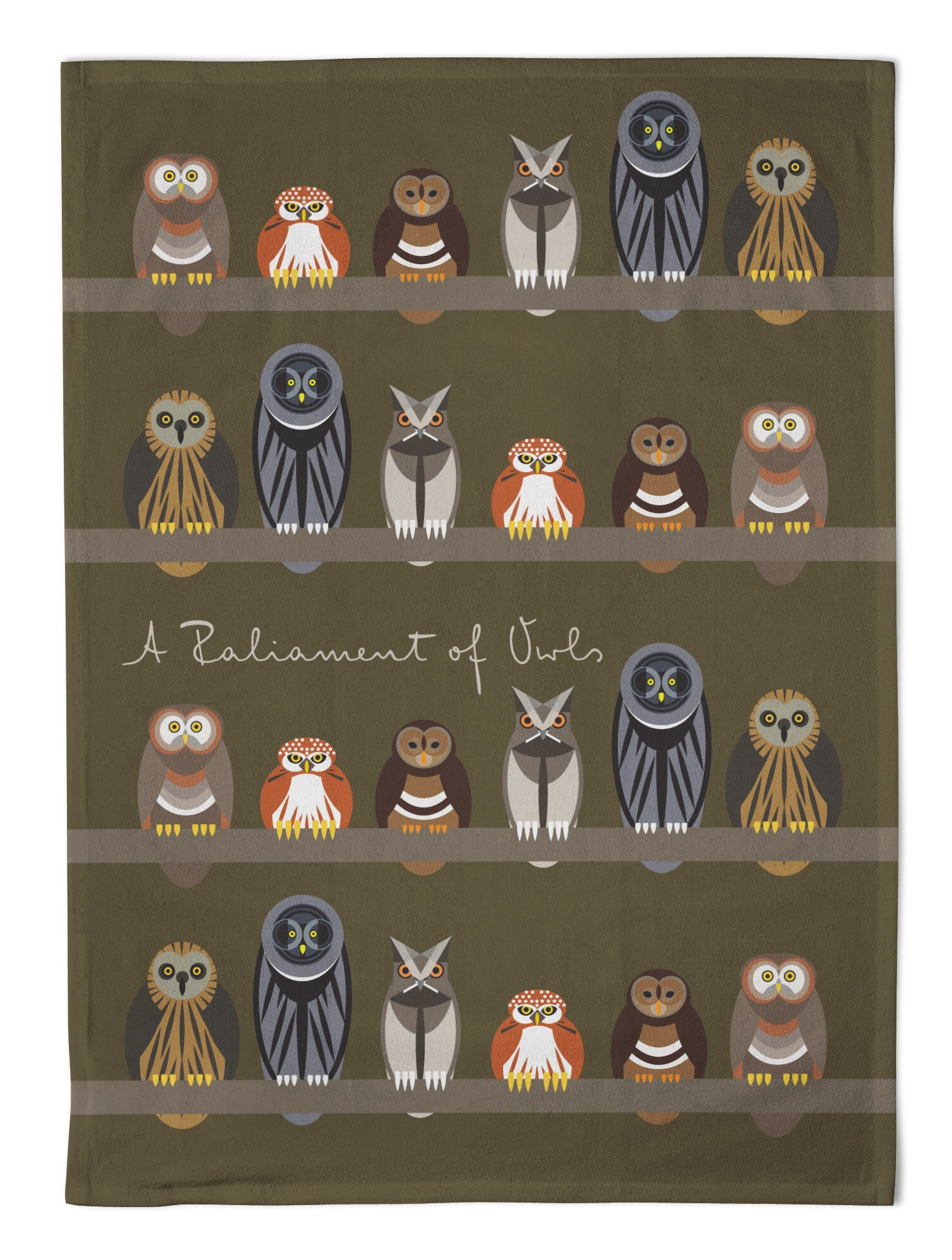 I Like Birds Tea Towel Parliament Of Owls                    Music Gift