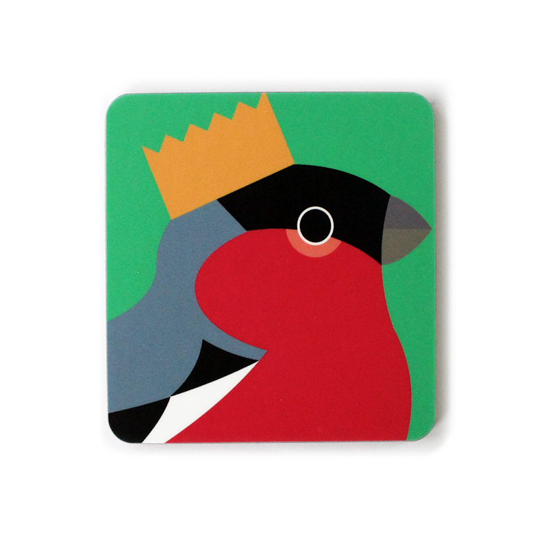 I Like Birds Coasters Bird In Hat Bullfinch                  Music Gift