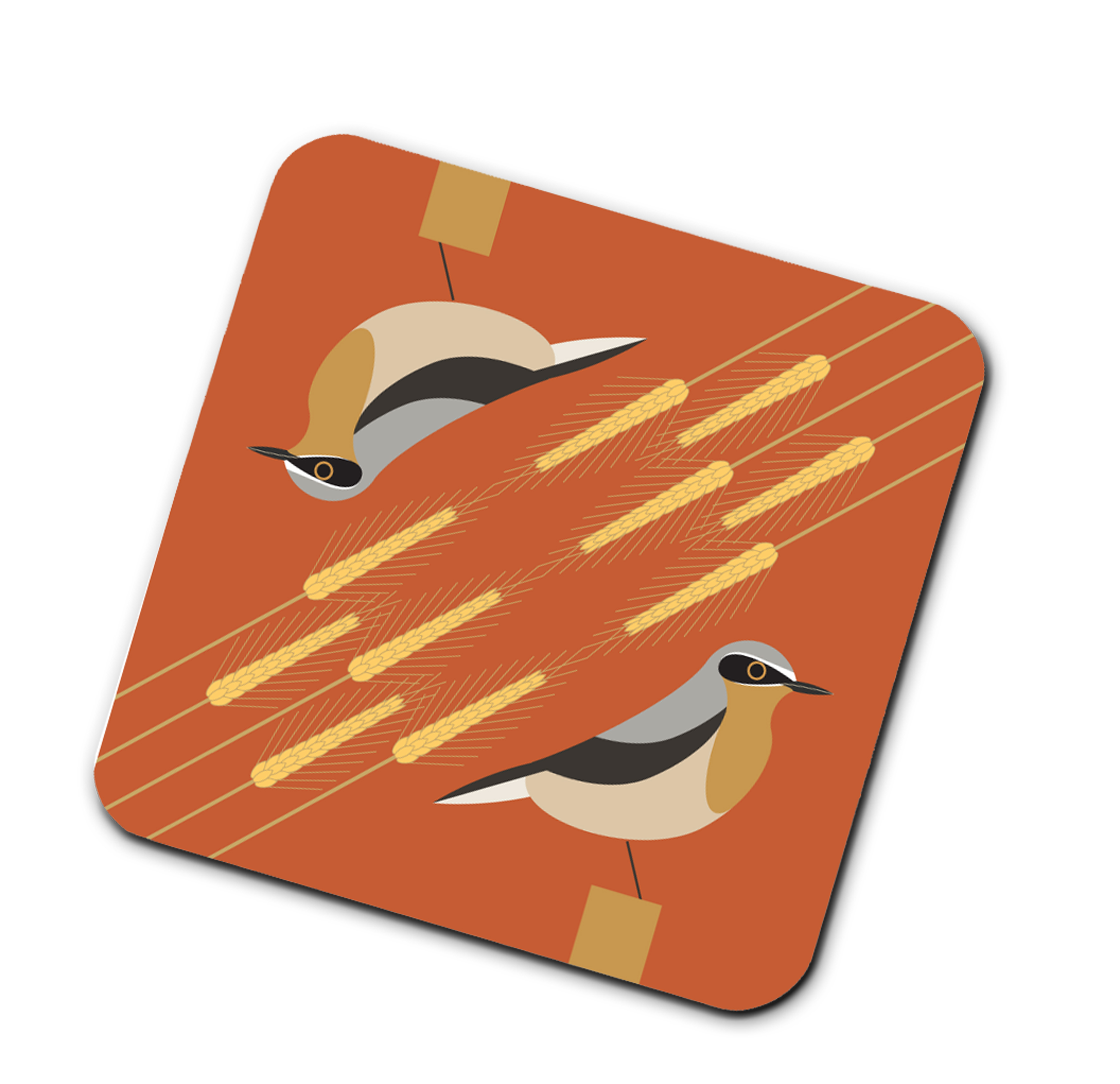 I Like Birds Coasters Wheatear                               Music Gift