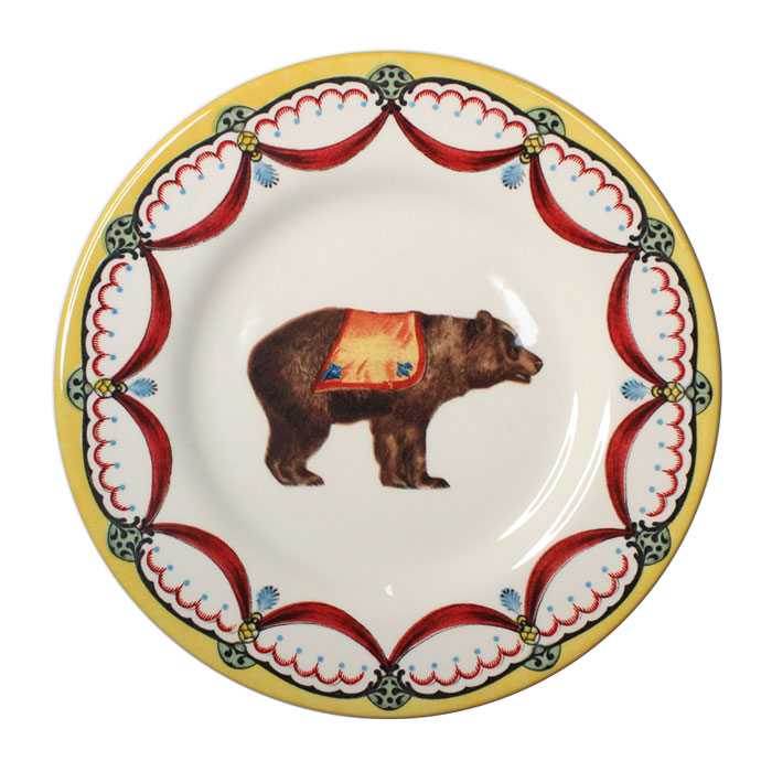 Royal Stafford Circus Wonders Side Plate Bear Pk 6           Music Gift