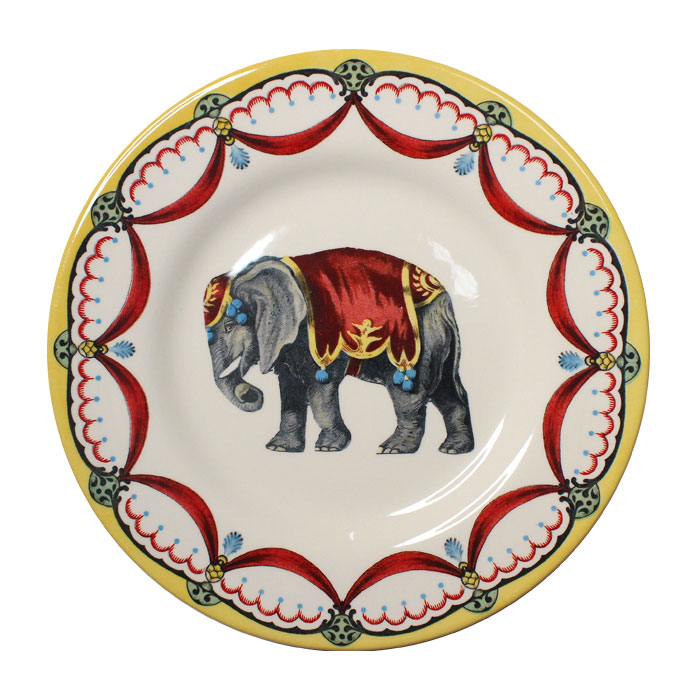 Royal Staffs Circus Wonders Side Plate Elephant X6           Music Gift