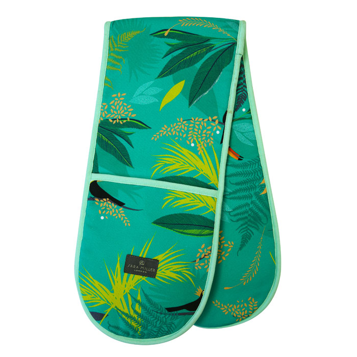 Sara Miller Double Oven Glove Toucan Repeat                  Gift