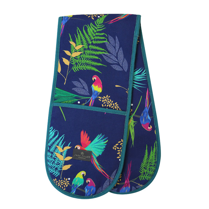 Sara Miller Double Oven Glove Parrot Repeat                  Gift