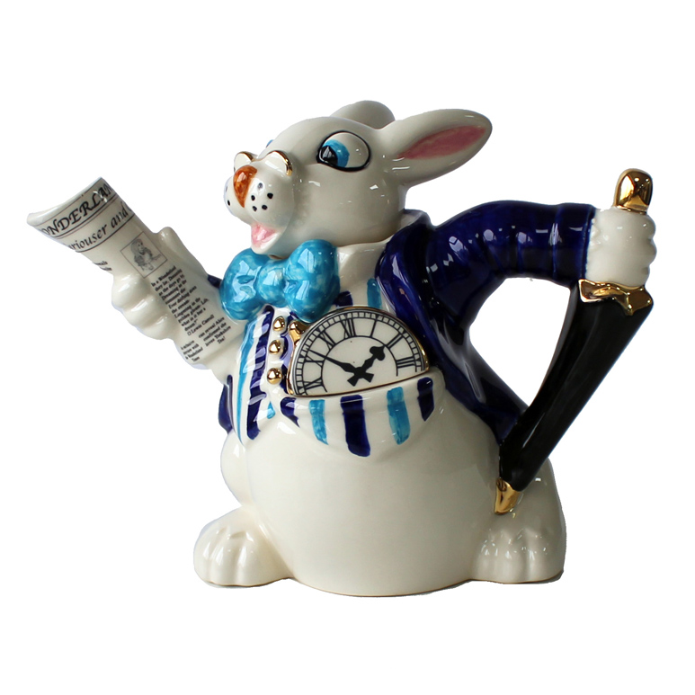 Teapot White Rabbit 2 Cup                                    Music Gift