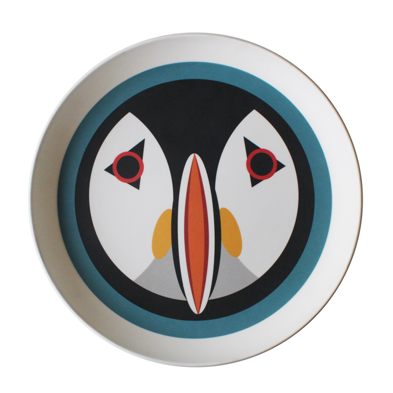 I Like Birds Round Tray Puffin                               Music Gift