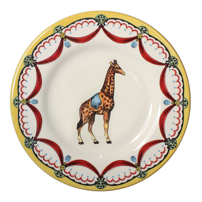 Royal Stafford Circus Wonders Side Plate Giraffe Pack 6      Music Gift
